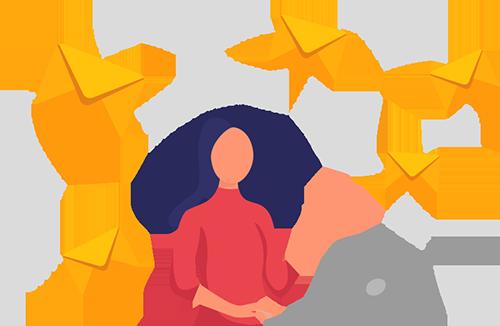 Femme envoyant des mails