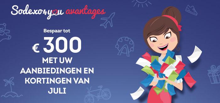 Bespaart tot €300 met uw aanbieding en kortigen van augustus